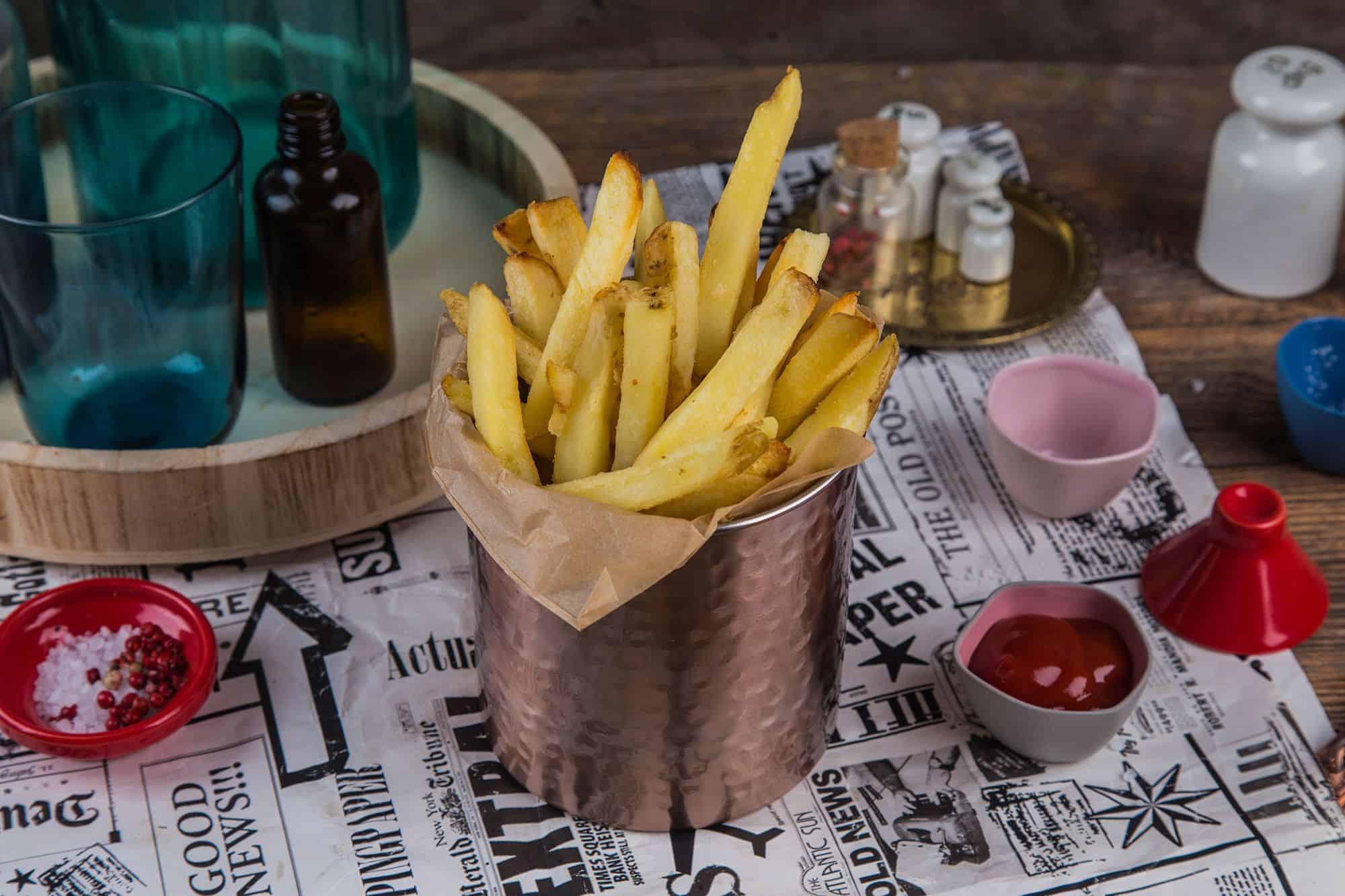 Obrazek Fryty domowe z domowym ketchupem